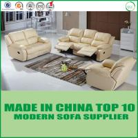 Buy cheap Modern  wood sectional Living Room Furniture Genuine Leather Recliner Sofa from wholesalers