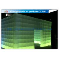 Buy cheap Pvc Coated Nylon Inflatable Air Tent Square Tent Booth With Led Lighting product