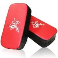 Buy cheap High Quality Artificial Leather Curved Taekwondo Focus Mittkick boxing target, karate target paddle kicking pad For Whol from wholesalers