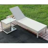 Buy cheap Outdoor garden wicker furniture sunbed PE Rattan beach chair Chaise lounge chair from wholesalers