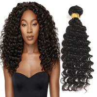 Buy cheap Natural Black Virgin Human Hair Bundles Without Lice / Machine Double Weft from wholesalers