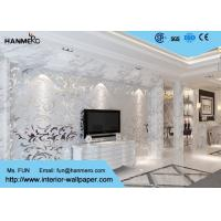 Buy cheap 3D Design Silver Grey European Modern Wallpaper for Bedrooms TV Background product