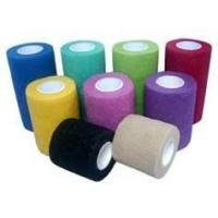 Buy cheap Custom breathable hand tear non - woven cohesive elastic bandage for pet wrapping from wholesalers