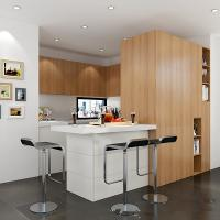 Buy cheap Lacquer Finish Painted Wood Veneer Kitchen Cabinets 3d Drawings Contemporary Style from wholesalers