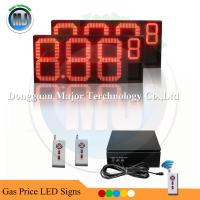 Buy cheap 16 inch Outdoor RF Remote Control Red Led Oil Price Display for Oil Station from wholesalers