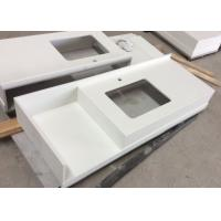 Buy cheap Pure White Kitchen Quartz Stone Countertops And Bathroom Vanity Tops Tampa from wholesalers