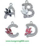 Buy cheap Crystal letter pendants,rhinestone letter pendant,enamel alphabet pendant  from wholesalers