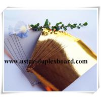 Buy cheap Shiny gold aluminium foil paper from wholesalers