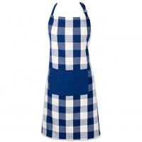 Buy cheap Artist Painters Mens Cotton Apron Sublimation Printed Blue White Squares from wholesalers