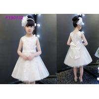 Buy cheap Embroidery Ivory Lace Flower Girl Dresses / Short Casual Simple Flower Girl Dresses from wholesalers