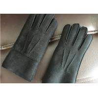 Buy cheap Windproof Dark Grey Warmest Sheepskin Gloves Soft Touching Screen For Iphone from wholesalers