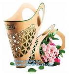 Buy cheap portable luxury paper bag flowerpot fresh plant flower carrier bags,Eco-friendly Kraft paper Flower bag, flower paper pa from wholesalers