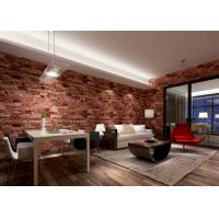 Buy cheap Removable 3D Brick Effect Wallpaper , Living Room Wall Covering with 0.53*10M size from wholesalers