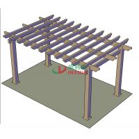 Buy cheap DIY Recyclable 100% Pergola Canopy Kit , Free Standing Pergola With Canopy Color Stability from wholesalers