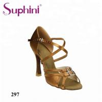 Buy cheap Suphini Classical X Strap Double Buckle Satin Latin Salsa Ballroom Dance Shoes For Women from wholesalers