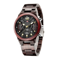 Buy cheap 48mm Case Adult Wood Chronograph Quartz Watch from wholesalers