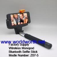 Buy cheap Factory Supply Wholesale 2014 Wireless Monopod  Z07-5 Selfie Stick with bulit-in Shutter  Selfie Stick with bluetooth from wholesalers