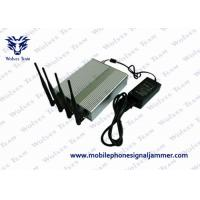 Buy cheap Power Adjustable Remote Control Mobile Phone GSM CDMA 3G signal Jammer for 60 Meters 4G LTE/Wimax option from wholesalers