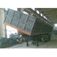 Buy cheap 50t china famous heavy duty semi dump trailers for sand transportation from wholesalers