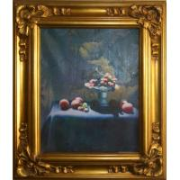 Buy cheap wooden oil painting picture frame,office and home decoration product