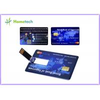 Buy cheap Promotional Credit Card USB Storage Device Ultra Thin Credit Card Shaped Customized Logo product