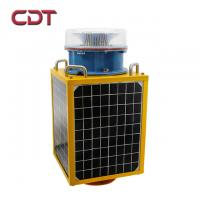 China Red Aviation Obstruction light /CE ICAO 2000cd Type B Medium Intensity Solar Power Aircraft Warning Lights on Towers on sale