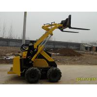 Buy cheap 4 Wheel Mini Skid Steer Loader / Fork Shove Loader Diesel Engine from wholesalers