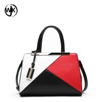 Buy cheap woman bags luxury handbags custom hand bag casual style stitching Multicolor Large Briefcase leather handbags for women from wholesalers
