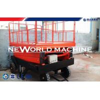 Buy cheap Self - Propelled Red Hydraulic Lift Table /  Hydraulic Elevating Platform from wholesalers