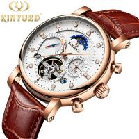 Buy cheap Automatic Mechanical Watch Leather Moon Phase With Diamond Crystal Mechanical Watch For Men from wholesalers