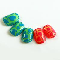 Buy cheap Beauty 3D Cracking Nails Plastic Colorful Artificial Nail For Kids Finger from wholesalers