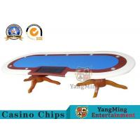 Buy cheap 10 Player Deluxe Speed Poker Table Poker Table Custom Cloth With Marble Finish from wholesalers