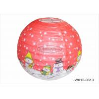 Buy cheap Handmade Hanging Paper Christmas Decorations , Snowman Paper Lantern With Hat from wholesalers