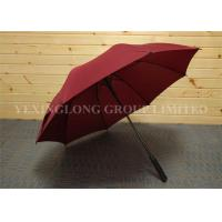 Buy cheap Formal Red Design Oversized Golf Umbrella , Women'S Stick Umbrellas Metal Tips from wholesalers
