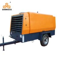 Buy cheap 194kw Mobile Screw Compressor 18bar Cummins Diesel Engine  Equip With Wheels from wholesalers