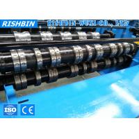 Buy cheap 24 Stations Construction Roof Metal Deck Roll Forming Machine with Hydraulic Cutting product