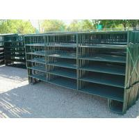 Buy cheap Heavy Horse Corral Panels Green Painting Finish Surface Size Optional from wholesalers