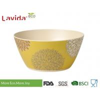 Buy cheap Customized Pattern Traditional Large Bamboo Bowls Phthalate Free For Food Serving from wholesalers