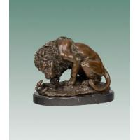 Buy cheap Bronze Lion and Snake Sculpture (TPY-553) from wholesalers