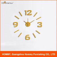Buy cheap New fashion 3d plastic wall clock, DIY sticker wall clock for living room decor from wholesalers
