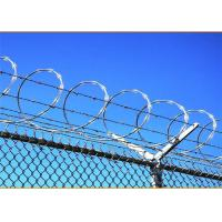 Buy cheap 450mm Coil Diameter BTO-28 Razor Barbed Wire 100g Zinc Coating from wholesalers