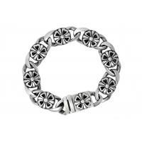 Clover Stainless Steel Bangle Bracelets , Enameled Stainless Steel Magnetic Bracelets