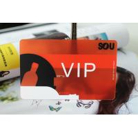 Buy cheap CMYK printing transparent pvc card from wholesalers