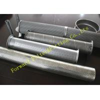 Buy cheap Galvanized Stainless Steel Perforated Pipe Large Diameter 1/4 -12 Center Tube from wholesalers