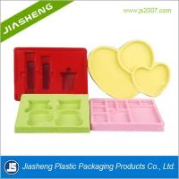 Buy cheap Luxury Artistic Flocking Tray For Cosmetic , Plastic Makeup Tray product