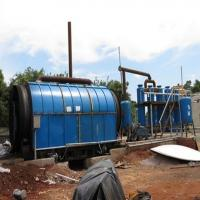 Buy cheap Energy-saving Waste Tire Oil Pyrolysis Plant with 35%-65% crude oil yield from wholesalers