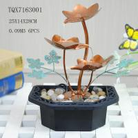 Buy cheap Portable Indoor Table Water Fountain For Home Decoration , Leaf Design  25 X 14 X 28 Cm from wholesalers