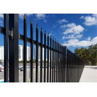 Buy cheap garrison security fencing panels 2.1m*2.4m black powder coated interpon akzol nobel powder rail 45mm x 45mm from wholesalers