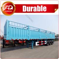 Buy cheap 3 axles 45T fence cargo semi trailer/ tri-axles sidewall cargo truck trailer to transport livestock,animals from wholesalers