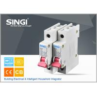 Buy cheap Breaking capacity reach to 10000 voltage 230v/400V 20a 50HZ single pole small circuit breaker overload protection from wholesalers